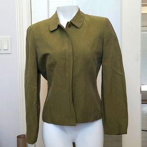 Ann Taylor Green Linen Jacket